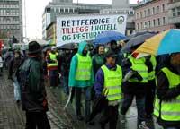 Hotell- og restaurantarbeiderne streika også i 2002. Arkivfoto.