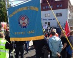 Rally for the dockers in the port of Oslo on 22nd June 2015. © CC-BY-NC JRS